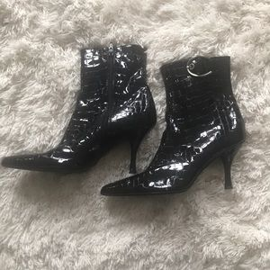 Stuart Weizmann Black Booties
